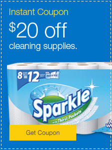 $20 off cleaning supplies.