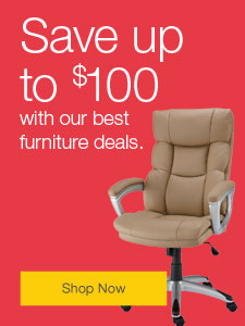 Save up to $100 with our best furniture deals.