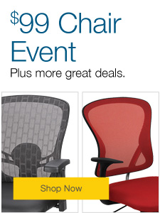 $99 Chair Event Plus over 80 chairs on sale and bonus coupons.
