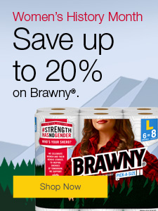 Save Up to 20% on Brawny.