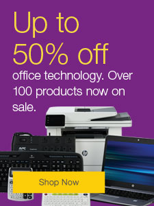 Up to 50% off office technology. Over 100 products now on sale.