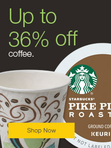 Up to 36% off coffee.