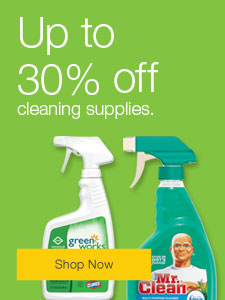 Up to 30% off cleaning supplies.