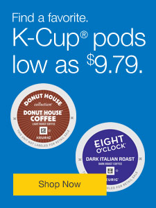 Find a favorite. K-Cup® pods low as $9.79.