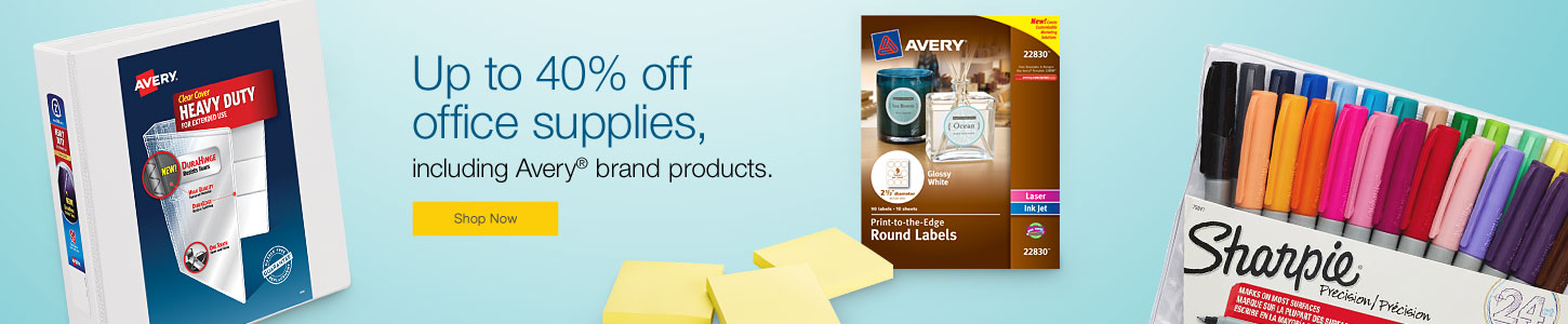 High Quality Up To 40% Off Office Supplies, Including Avery® Brand Products.
