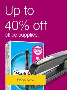 Up to 40% off office supplies.