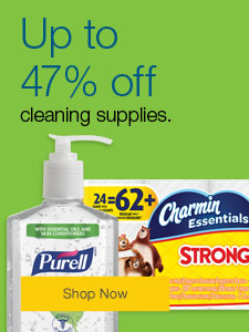 Up to 47% off cleaning supplies.
