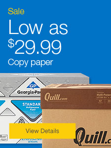 Low as $29.99 Copy paper