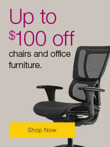 Up to $100 off chairs and office furniture.