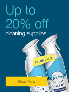 Up to 20% off cleaning supplies.