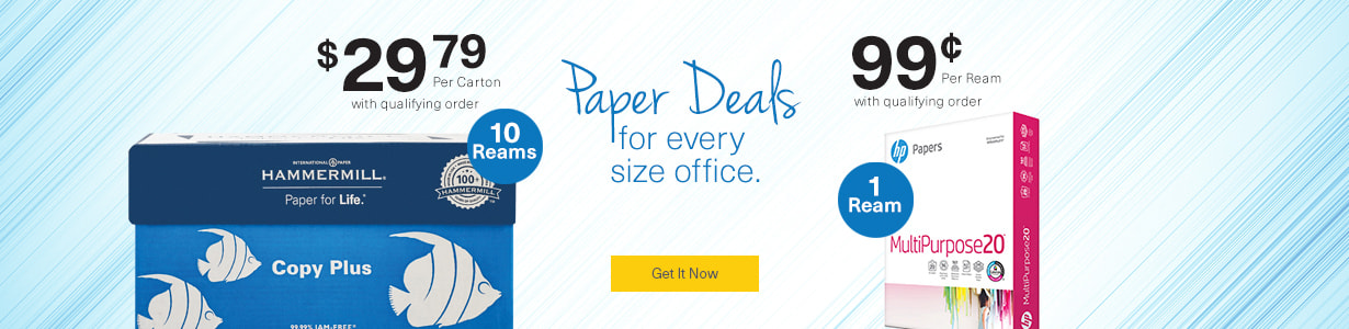 Paper deals for every size office.
