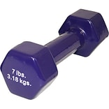 7lb Purple Vinyl Coated Cast Iron Dumbbell