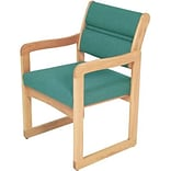 Dakota Wave by Wooden Mallet Standard Fabric Collection; Sled Base Chair with Arms