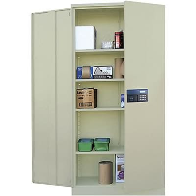 Sandusky® Steel Storage Cabinet; Non-Assembled, 78Hx36Wx24D, Putty