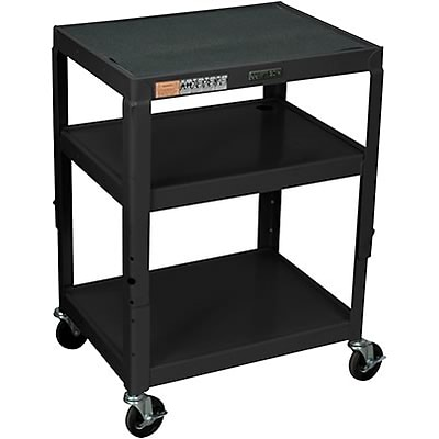 H. Wilson® Extra-Strong Colored Metal Utility Carts; Black