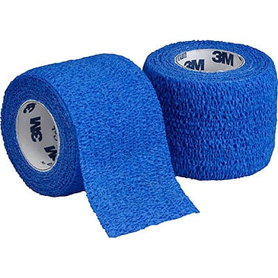 3M™ Coban™ Self-Adherent Wrap; 2 x 5 yds, Blue, 36/Case