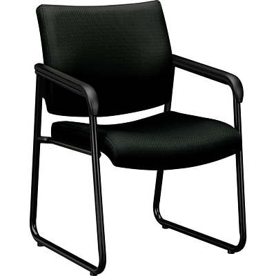 basyx® by HON VL443 Series Sled Base Guest Chairs; Black