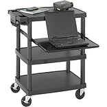 Safco 3-Shelf Adj.-Height Audio/Visual Cart