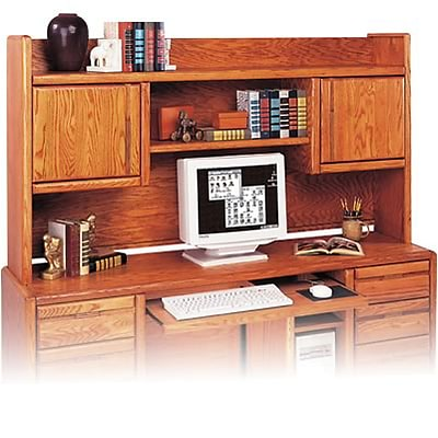 Martin Furniture Oak Contemporary Office Grouping; Computer Hutch for 00689