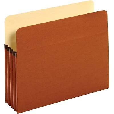 Quill Brand® 100% Recycled Expanding File Pockets, 3-1/2 Expansion, Letter, 10/Bx (71524ER)