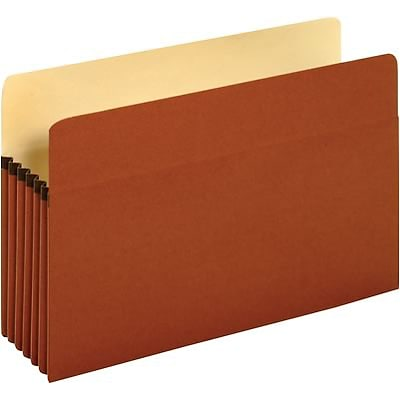 Quill Brand® 100% Recycled Expanding File Pockets, 5-1/4 Expansion, Legal, 10/Bx (71536GR)