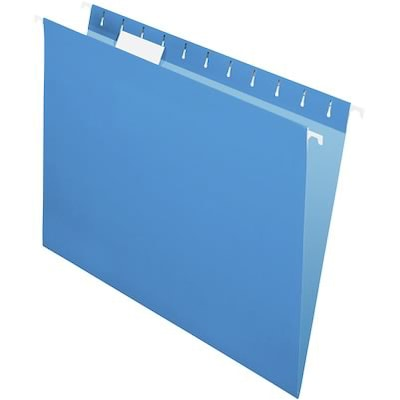 Quill Brand® Colored Hanging File Folders; 1/5-Cut Tabs, Letter Size, Blue, 25/BX