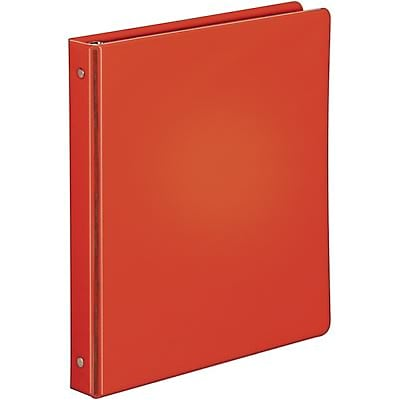 Quill Brand® 1 Round Ring Binder; Non-View, Red, 3-Ring
