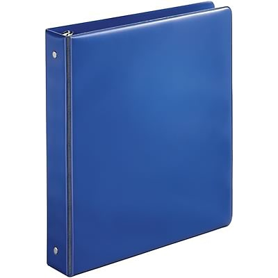 Quill Brand® 1-1/2 Round Ring Binder; Non-View, Dark Blue, 3-Ring