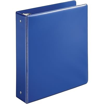 Quill Brand® 2 Round Ring Binder; Non-View, Dark Blue, 3-Ring