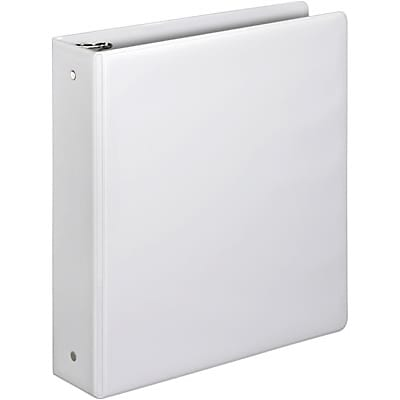 Quill Brand® 2 Round Ring Binder; Non-View, White, 3-Ring