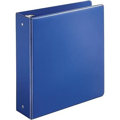 Quill Brand® 3 inch, Round Ring, Non-View Binder, Dark Blue (739552)