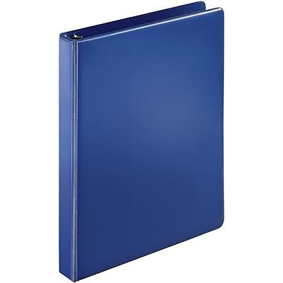Quill Brand® 1 D-Ring Binder; Non-View, Dark Blue, 3-Ring
