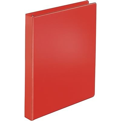 Quill Brand® 1 D-Ring Binder; Non-View, Red, 3-Ring