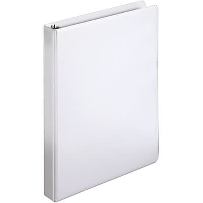 Quill Brand® 1 D-Ring Binder; Non-View, White, 3-Ring