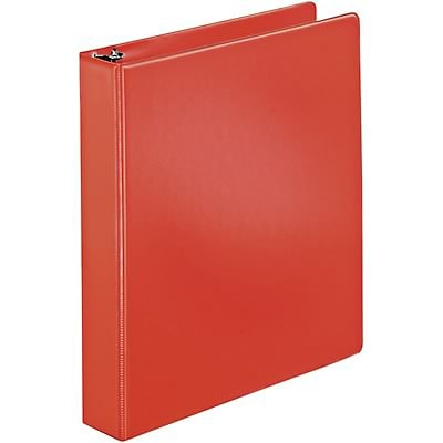 Quill Brand® 1-1/2 D-Ring Binder; Non-View, Red, 3-Ring
