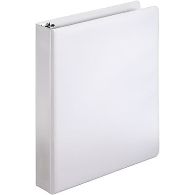 Quill Brand® 1-1/2 D-Ring Binder; Non-View, White, 3-Ring