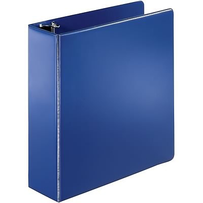 Quill Brand® 3 D-Ring Binder; Non-View, Dark Blue, 3-Ring