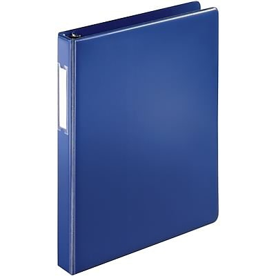 Quill Brand® 1 D-Ring Binder with Label Holder; Non-View, Dark Blue, 3-Ring