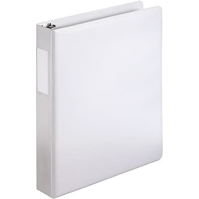 Quill Brand® 1-1/2 D-Ring Binder with Label Holder; Non-View, White, 3-Ring