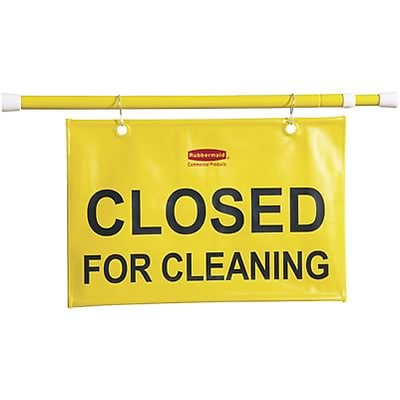 Rubbermaid® Closed for Cleaning Safety Hanging Sign