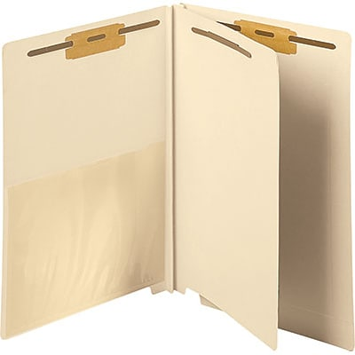 Medical Arts Press® End-Tab Manila Classification Folders; 1 Divider With Poly Pocket