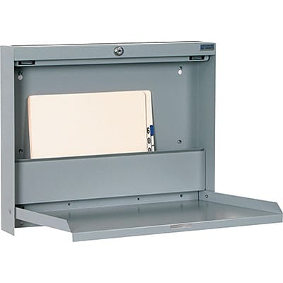 Medical Arts Press® Locking Fold Up Wall Desk With Drop In Slot