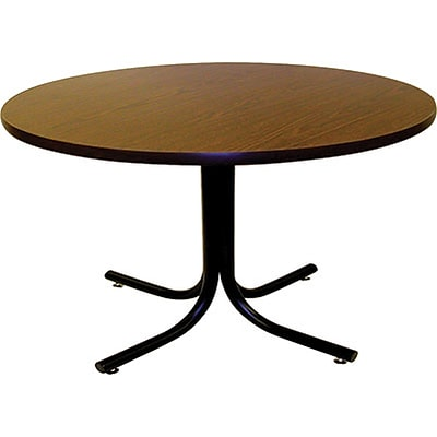 MLP Cafeteria/BreakroomTable; 36 Round Walnut Top, Black Frame