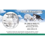 Medical Arts Press® Dual-Imprint Peel-Off Sticker Appointment Cards; Pup and Kitten
