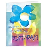 Medical Arts Press® Birthday Greeting Cards;  Blue Flower, Blank Inside