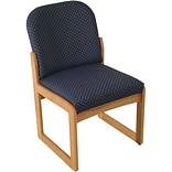 Arch Blue Single Base Armless Chair