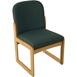 Arch Green Single Base Armless Chair