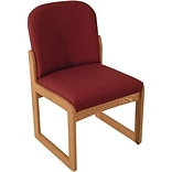 Arch Wine Single Base Armless Chair