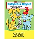Custom Printed Healthy Pets Coloring and Activity Book