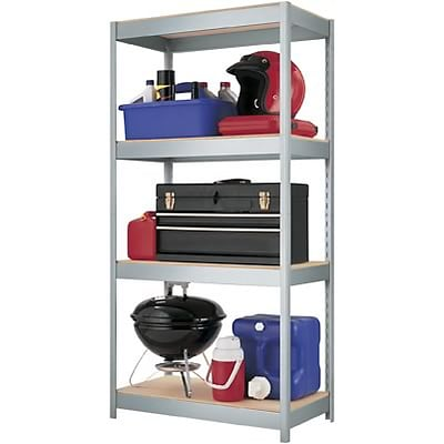 Hirsh Industries® Space Solutions™ Industrial Steel Shelving; 4-Shelf, 60Hx30Wx16D